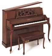 A Baldwin Acrosonic upright piano very similar to the one we used on the album.