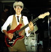 Jon Tuttle, 1967, with his original red Hofner 173ii, the same one used on Fohhoh Bohob.