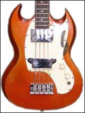 A 60s Gibson Melody Maker bass pretty close to the way mine looked.
