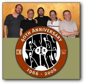The Patron Saints and the 40th Anniversary logo.