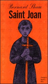 Saint Joan book cover which inspired our name in 1966.