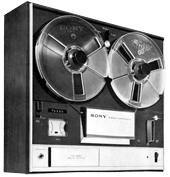 A Sony TC-255 reel-to-reel tape deck